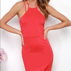 Lulu's Beat Goes On Coral Red Dress